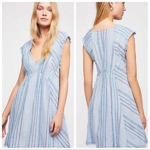 Free People Blue Cactus Flower Mini Dress Size XS